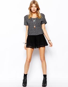ASOS | ASOS Culotte Shorts With Lace Hem at ASOS