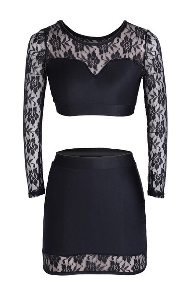 Tricia Lace Bodycon Set   Outfit Made