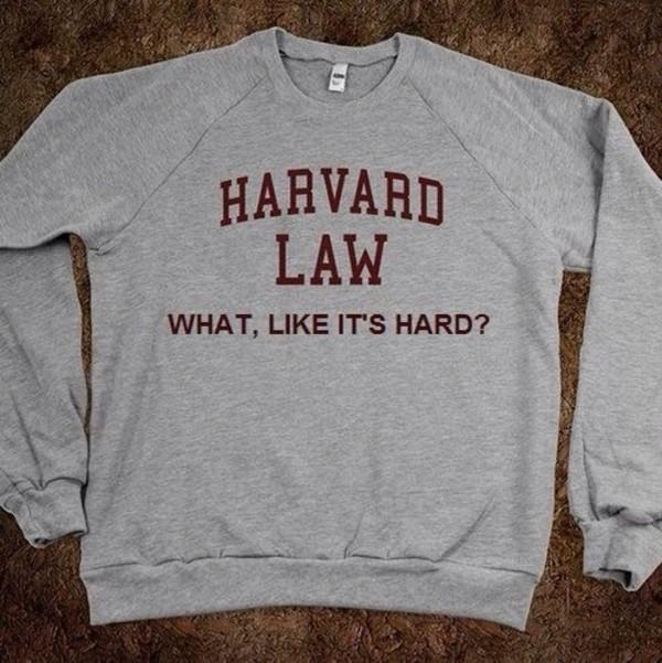 sweater grey sweater harvard harvard law
