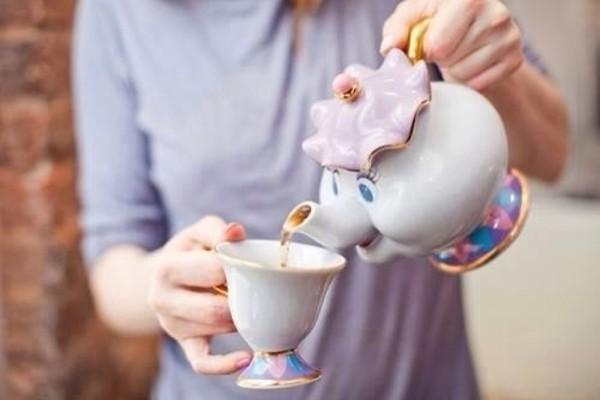 disney beauty and the beast jewels mug cup purple