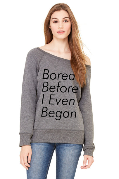 fashion vibe grey sweater off the shoulder sweater sweater