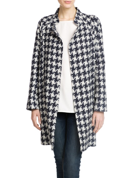 MANGO - NEW - PREMIUM - Houndstooth coat