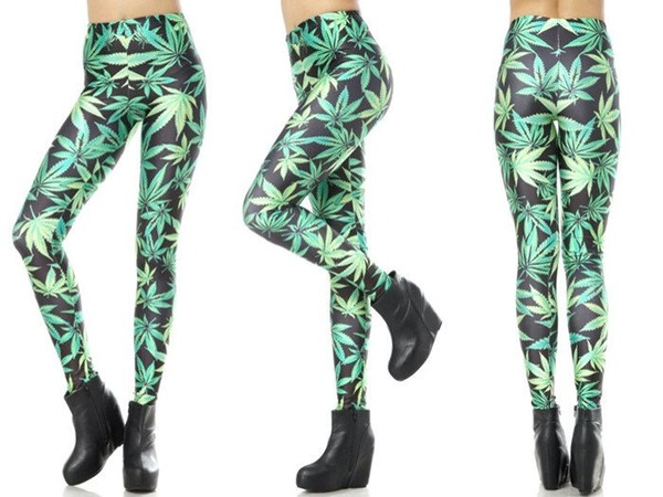pants colorful green leggings printed leggings shorts fashion clothes weed instagram instagram girly givenchy style