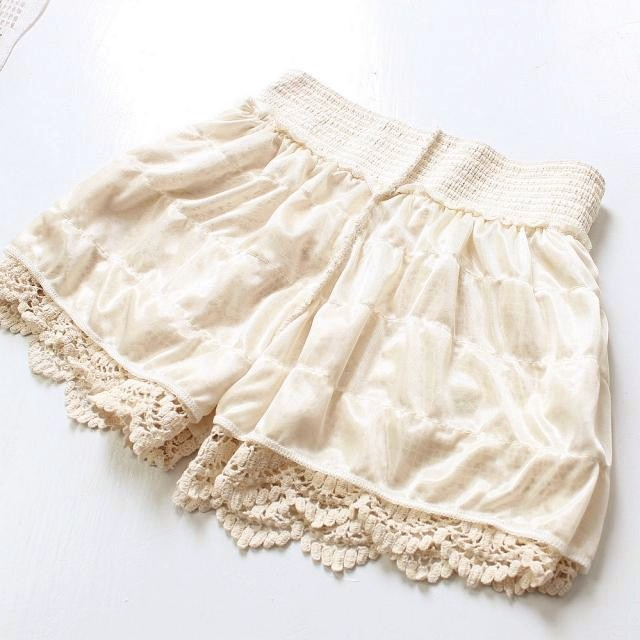 Korean Style Women Lace Tiered Skirts Sweet Cute Shorts Pants P100 | eBay