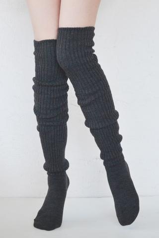 Tabbisocks Scrunchy Socks in Dark Gray