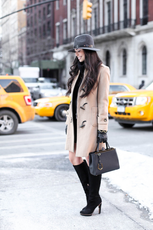 with love from kat coat skirt hat shoes bag duffle coat