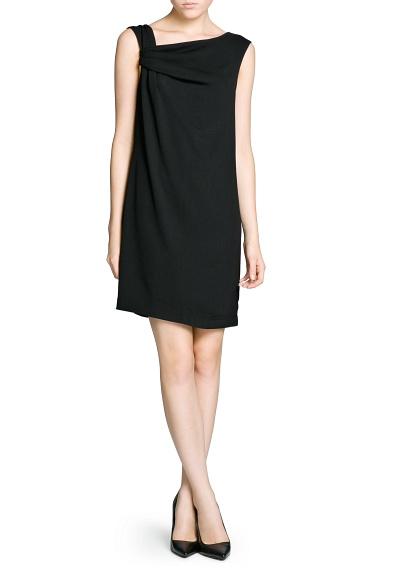 MANGO - CLOTHING - Dresses - Draped asymmetric dress