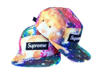 hat galaxy print supreme color/pattern dope
