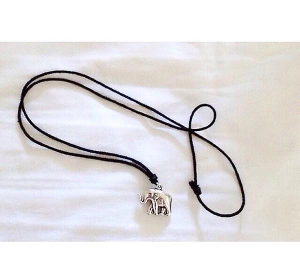 jewels necklace elephant silver hippie