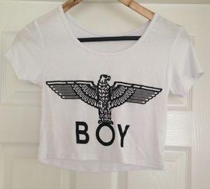 White Boy London Crop Top Medium | eBay