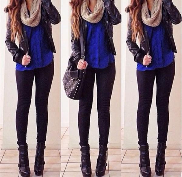 bag jacket scarf shirt pants shoes jeans vest dress black jacket blouse