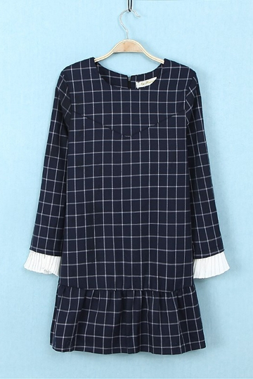 Sweet Girl Navy Blue Frilly Dress [FXBI00349]- US$ 21.99 - PersunMall.com