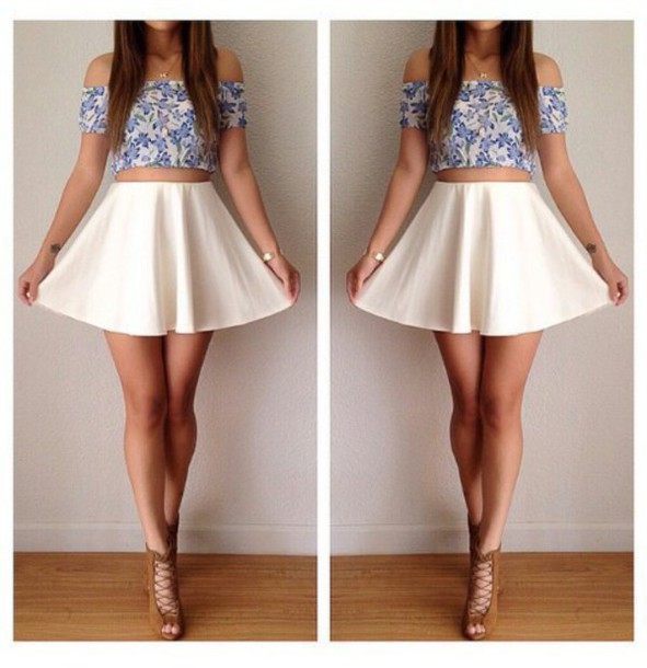 top skirt shoes