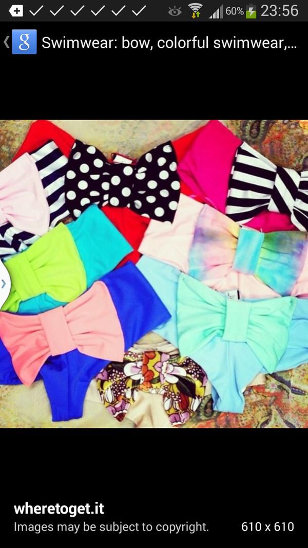 swimwear bow bikini bottoms