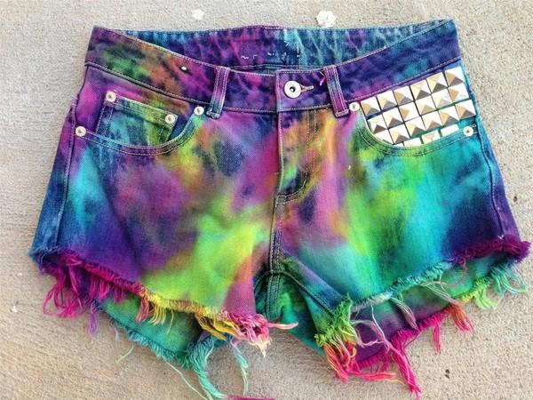 shorts multicolored shorts studded shorts