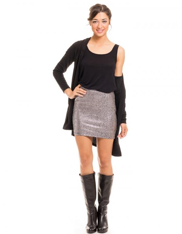Minifalda Covered ajustada chispeada de Vila Clothes | BUYLEVARD