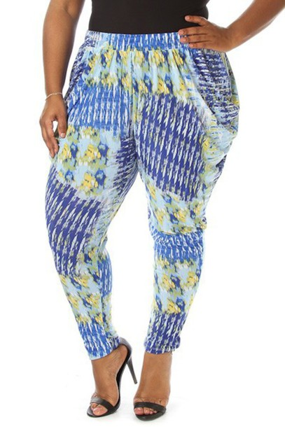 pants plus size pants plus size pants blue printed pants