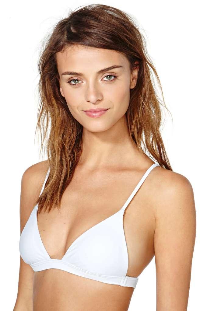 Nasty Gal Kauai Bikini Top - White | Shop Swimwear at Nasty Gal