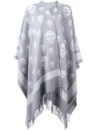 coat skull women wool grey