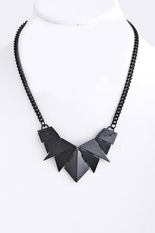 Benty Metal Necklace in Hermatite - Ivy Supply
