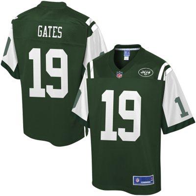 Pro Line Men's New York Jets Clyde Gates Team Color Jersey - NFLShop.com