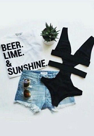 t-shirt beer white black summer holidays sunshine love beautiful white t-shirt graphic tee