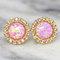 Opal earrings,opal stud earrings,opal stud earrings,swarovski stud earrings,gift for her, pink opal studs, pink earrings,opal pink earrings