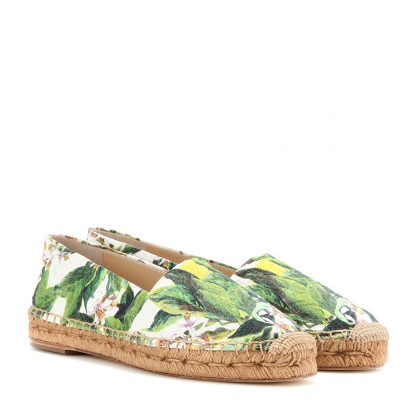 shoes espadrilles dolce and gabbana green nature
