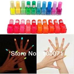 3x fluorescente luminoso de neón que brillan en la oscuridad de barniz de uñas de arte polaco 20 esmalte