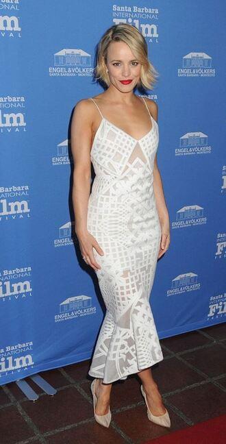 dress midi dress rachel mc adams pumps lace dress