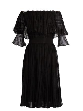 dress lace dress ruffle lace black