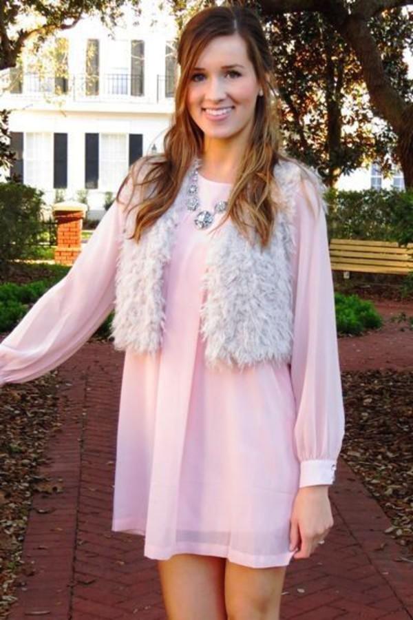 pink pink dress tunic tunic dress flowy dress flowy chiffon chiffon dress chic lovely simplicity light pink light pink dress