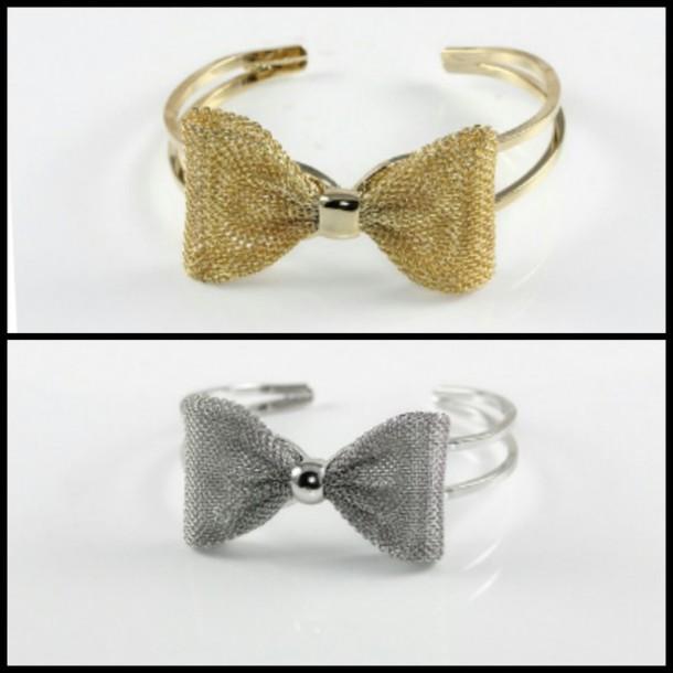 jewels bow bracelet bows gold bracelet gold bow silver bracelet silver bow bracelets