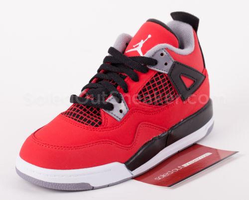 Jordan Retro IV 4 Preschool PS Fire Red Black White Toro 408499 603 1y | eBay