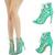 Sea Green Open Toe Lace Up Strappy Cutout Gladiator Stiletto Heel Pump Sandal US | eBay
