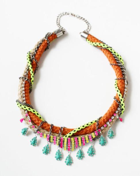 necklace neon jewels