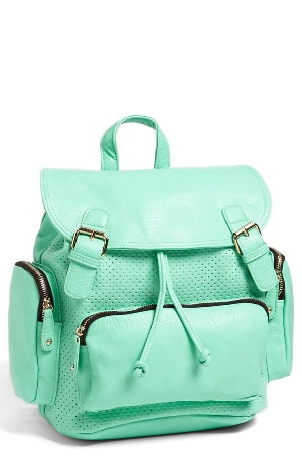 bag mint blue backpack