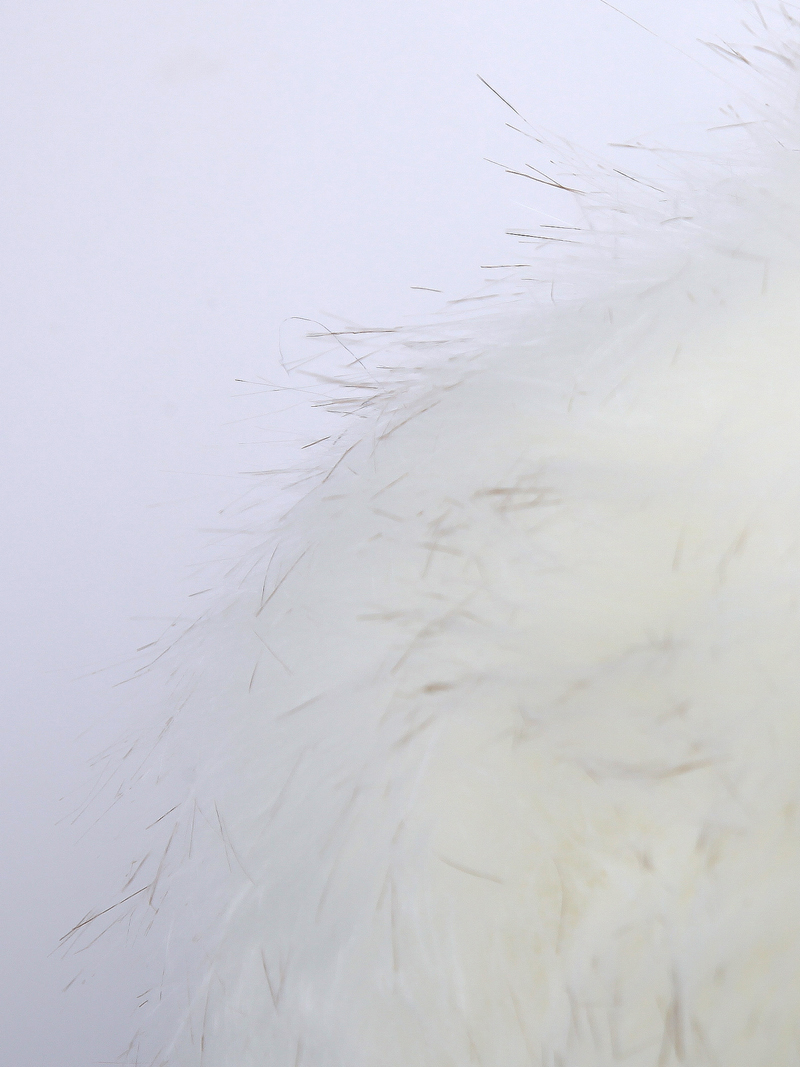 White Sleeveless Fox Fur Vest - Sheinside.com