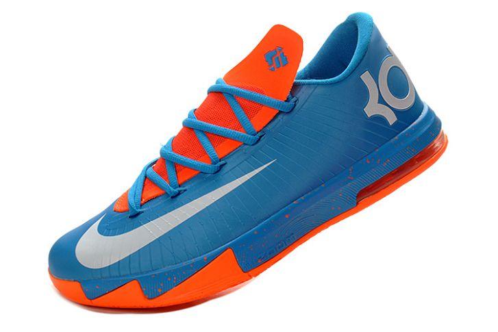 I1d5h Nike KD 6 - Men's VI Turquoise Blue/White-Total Orange [NKD613] - $72.99 :