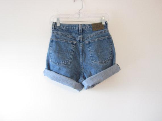Vintage High Waisted Denim Shorts Bugle Boy by GroovyGirlGarb