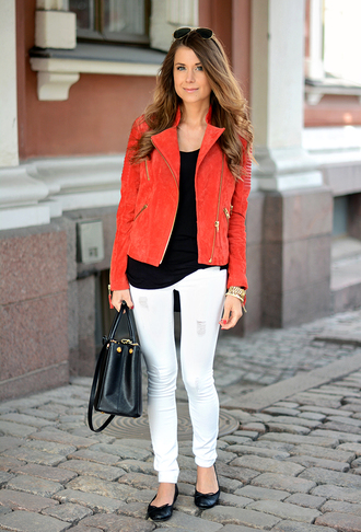 jacket t-shirt bag jeans mariannan