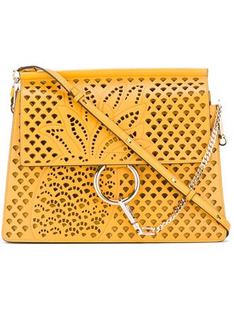 women pineapple bag leather suede yellow orange