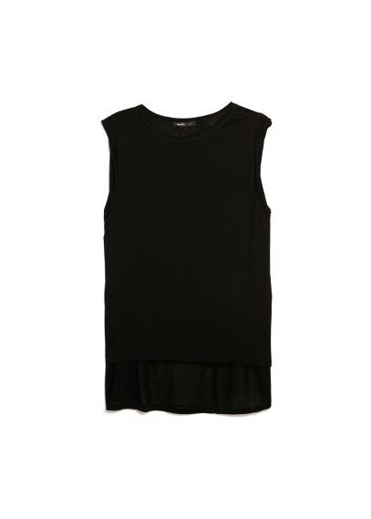 asymmetric tencel t-shirt