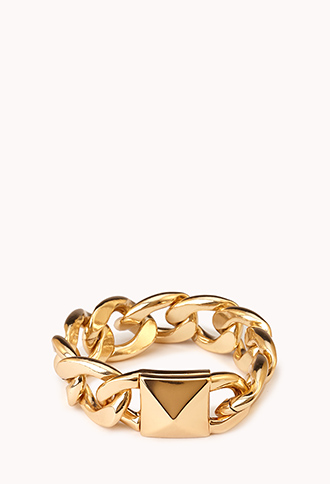 Total Stud Curb Chain Bracelet | FOREVER21 - 1000092119