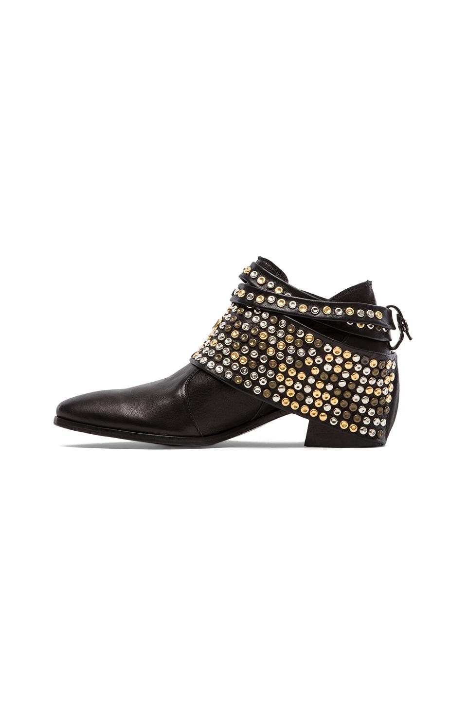 MODERN VICE COLLECTION Chloe Studded Removable Hardware Bootie in Black | REVOLVE