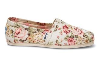 shoes toms floral