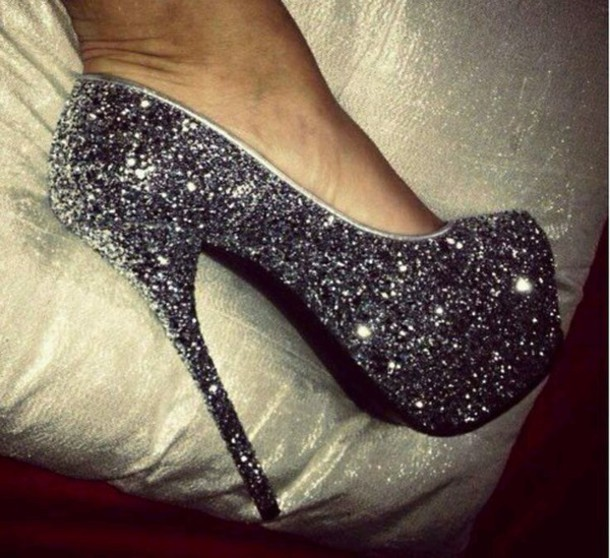 shoes grey #fashion #prom #shoes