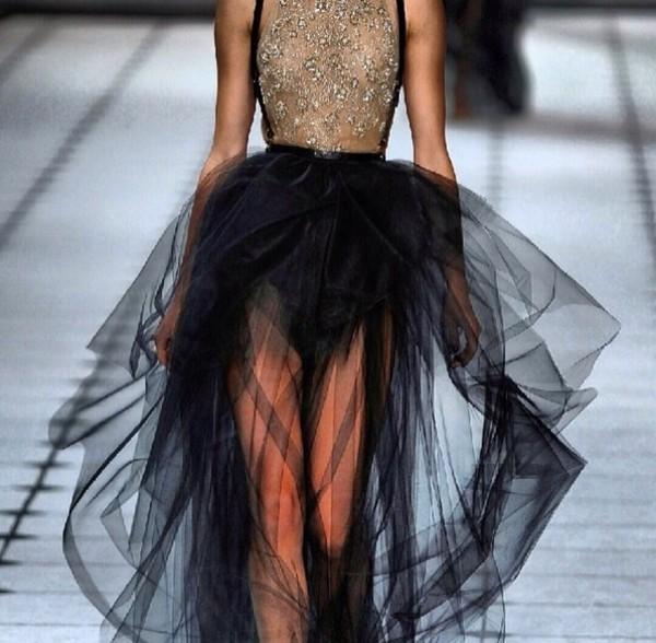 dress black and gold dress sequin dress black tutu tutu dress