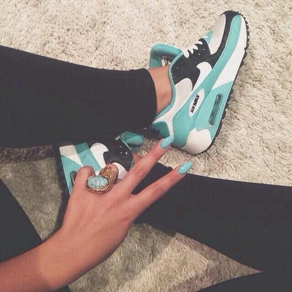 shoes air max air max airmax blue blue turquoise airmax nike airmax black and turquoise nail polish