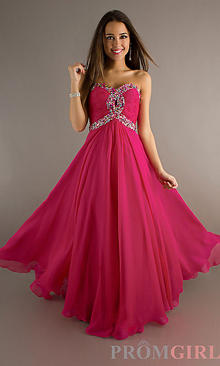 Night Moves Long Strapless Prom Gown- PromGirl